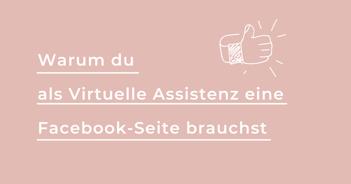 Facebook Seite Virtuelle Assistenz