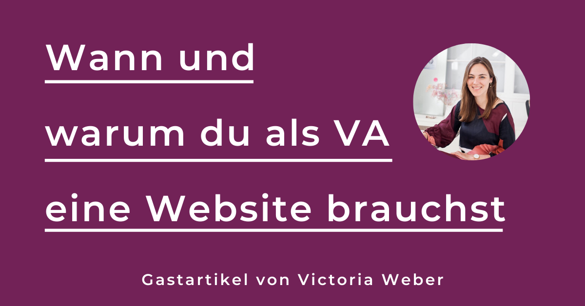 Virtuelle Assistenz Website